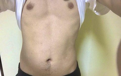 【画像】ワイデブ、腹筋トレーニングを始めて一ヶ月経過