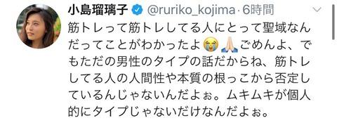 【悲報】小島瑠璃子さん、何か言うたびに墓穴…「使える筋肉持っとけよ」からの「使える使えないじゃなくて」