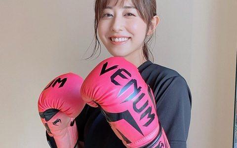 斎藤ちはるアナのキックボクサー姿にネット反響「カワイイ部門の世界チャンピオン」
