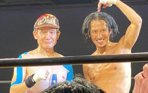 木下ほうかと大沢樹生がキックボクシングで対戦 格闘技初挑戦の元マネーの虎は壮絶KO負け